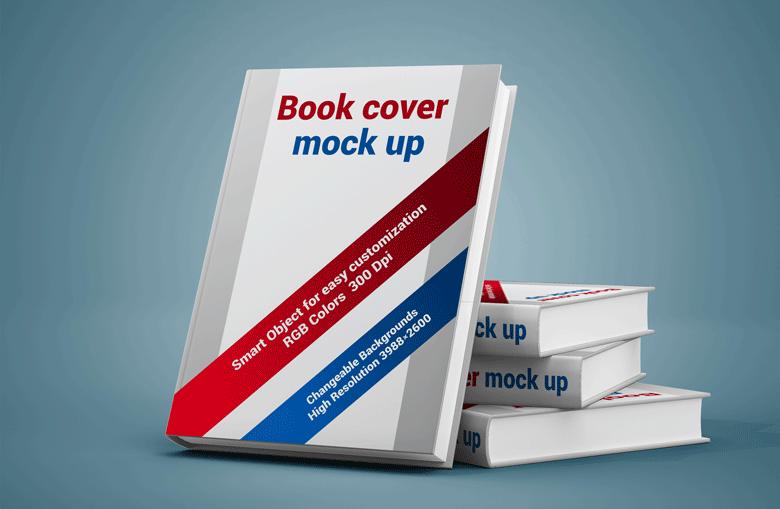 Book Cover Display Mockup PSD Free Download