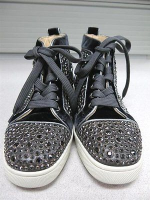 d1178aff01f7 Authentic Designer Christian Louboutin Louis Strass Sneakers made in Italy