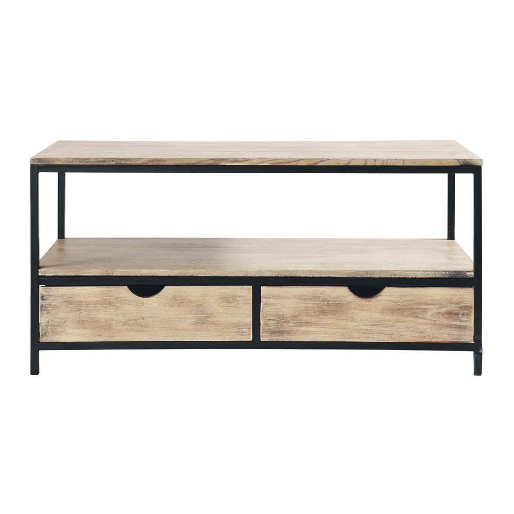Solid Fir And Metal Industrial Tv Unit Industrial Tv Unit Tv