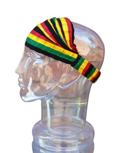 dd67823f27b Peruvian Arts Medium Headband Cotton Rasta Reggae Expandable Handwoven