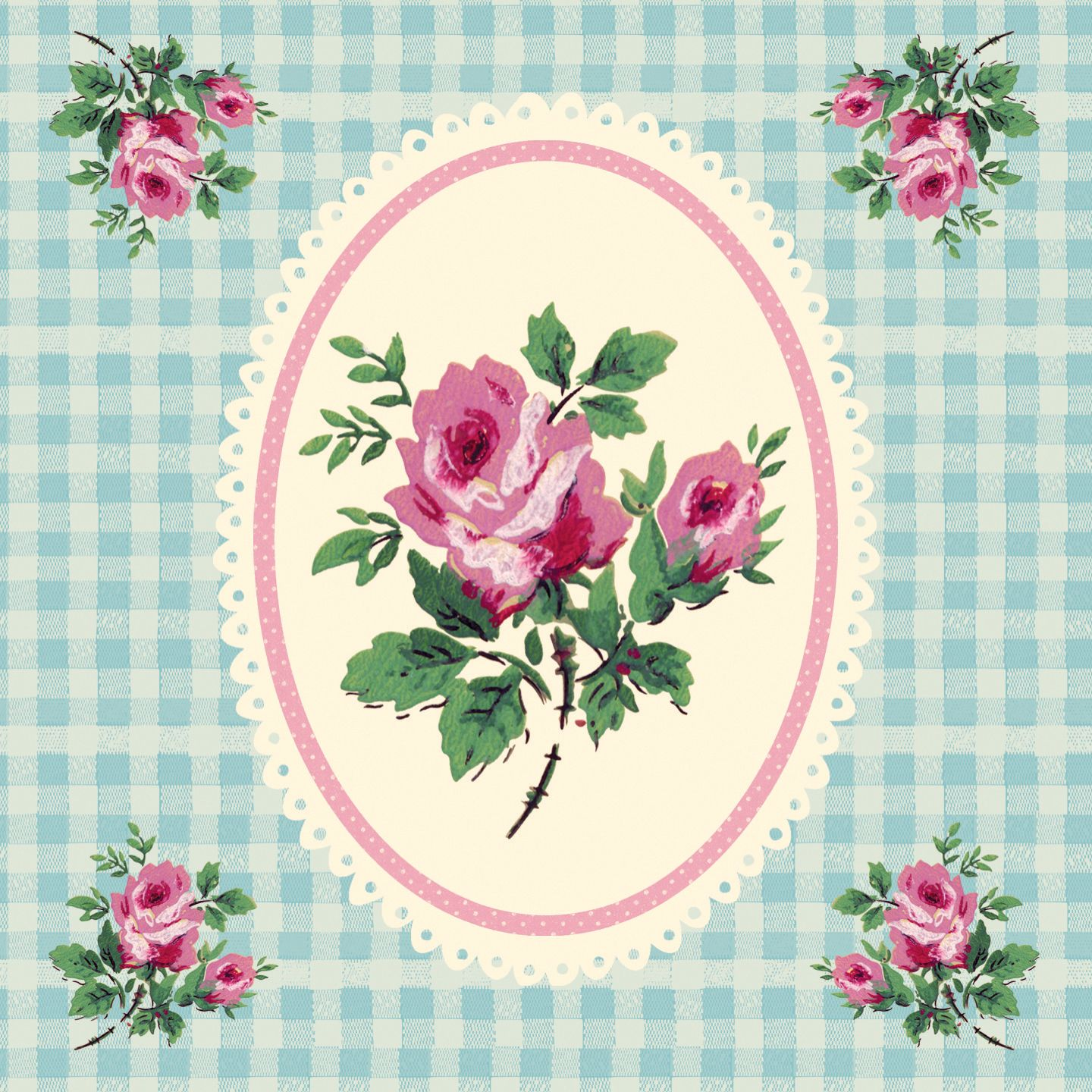 Decoration Anniversaire Romantique Card Gingham Rose Dotcomgiftshop Crea Book Ect