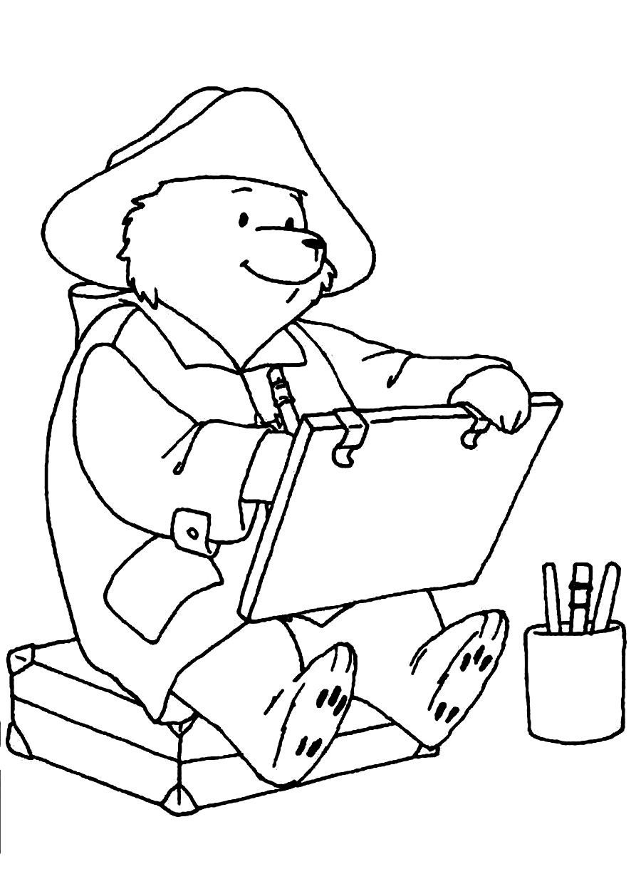 Paddington Bear Coloring Pages 510 Bear Coloring Pages Bunny