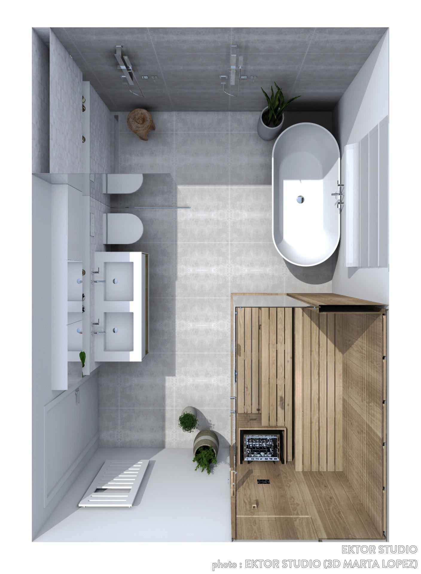 Maquette Daménagement Dune Salle De Bains Bagni Pinterest - Cote maison salle de bain