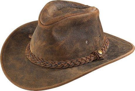 218eaea3 The Henschel outback leather hat is a distressed, rugged, and very soft  style that looks good on a wide variety of people. It has 4 grommet vent  holes, ...