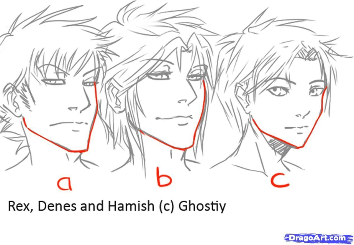 How To Draw Manga Males Draw Anime Males Step 3 Guy Drawing Manga Drawing Anime Drawings