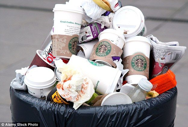 Coffee cups that won't decompose for 30 years Coffee cups that won't decompose for 30 years: As pressure grows for plastic bag-style 5p levy in cafes, top professor issues a warning