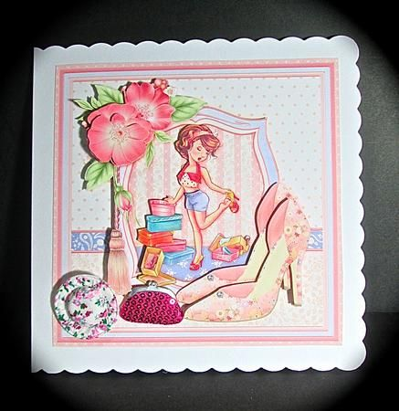 MAD ABOUT SHOES 8x8 Mini Kit Decoupage on Craftsuprint designed by Janet Briggs - made by Cynthia Massey