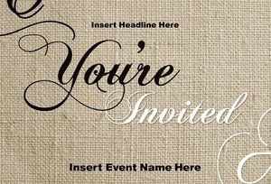 Formal Event Invitation Cards Design Template Templates