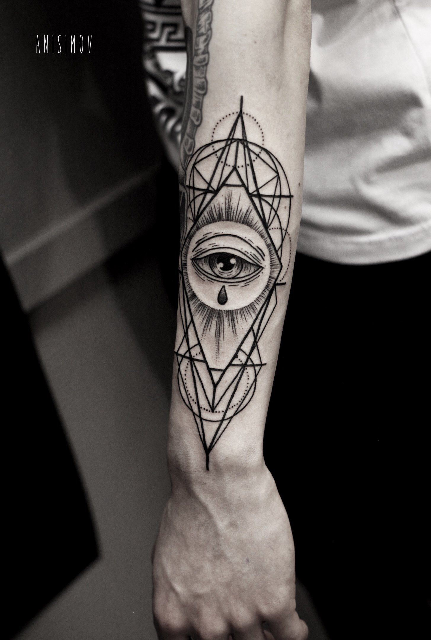 Pin By Kayla On Lisa Sleeve Tattoos All Seeing Eye Tattoo Geometric Eye Tattoo