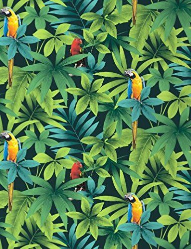 Direct For 234 T Jungle Motif Oiseau Chanteur Perroquet J86404