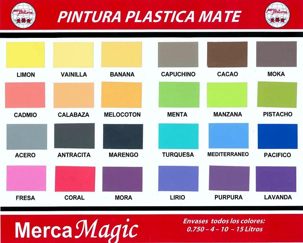 Pintura Plastica Merca Magic Carta De Colores Pintura Para Plastico Colores