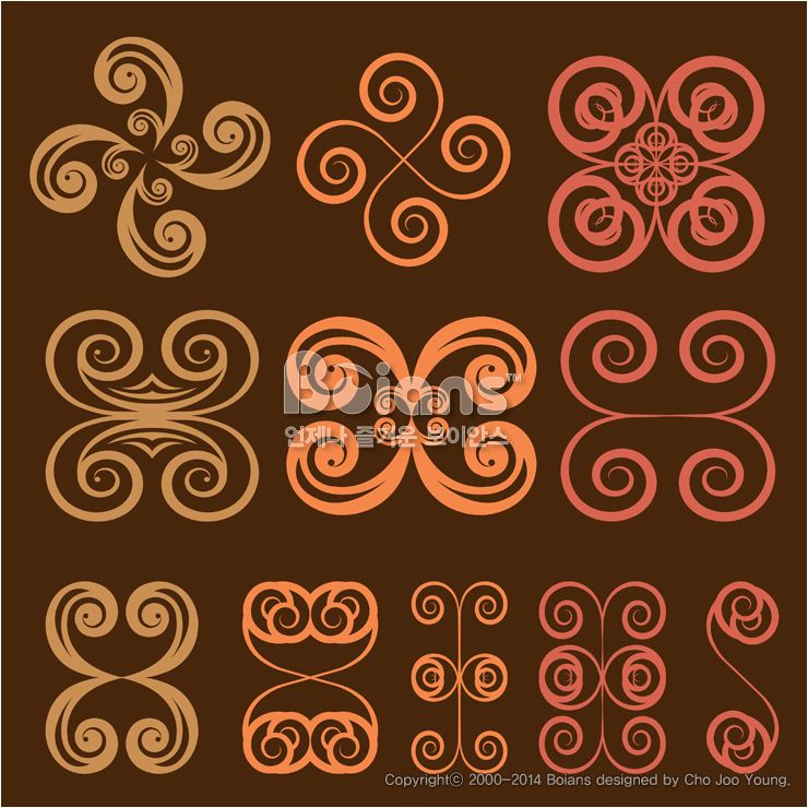 둥근 격자 무늬문양 세트. 기하학 패턴, 오리지널 패턴과 문양 시리즈. (BPTD020252) Round grid Symbol sets. Geometric Pattern Design. Original Pattern and Symbol Series. Copyrightⓒ2000-2014 Boians.com designed by Boians Cho Joo Young.