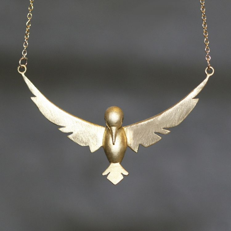 love lovebird bird pendant gold white wg boodles necklace