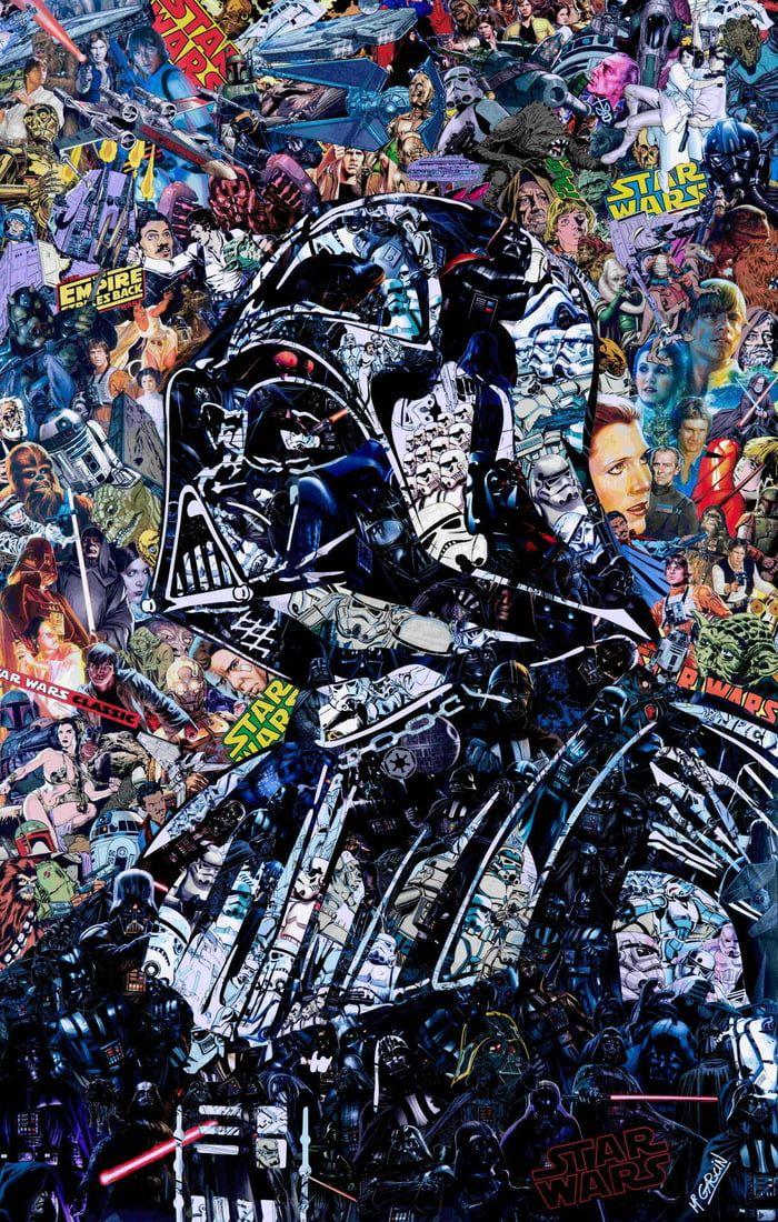Star Wars Collage By Mr Garcin Star Wars Artwork Star Wars Wallpaper Star Wars Art