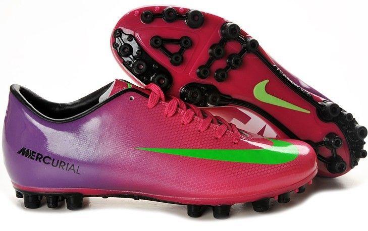 33ac702f7 Nike Mercurial Vapor IX AG Mens Artificial Grass Soccer Shoes(Pink Purple  Volt White)