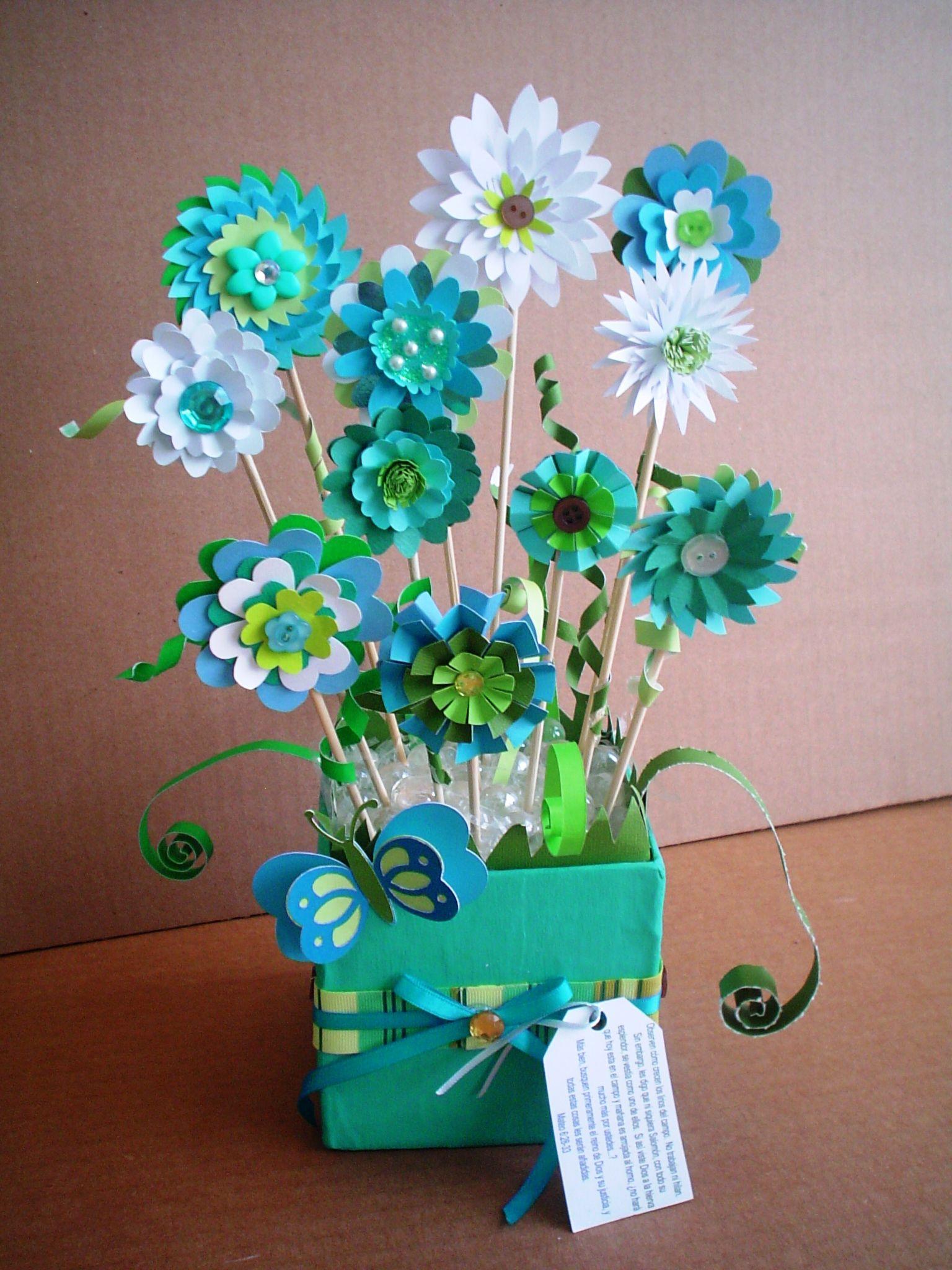 Arreglo Florar De Papel Creaciones Annette Gonzalez