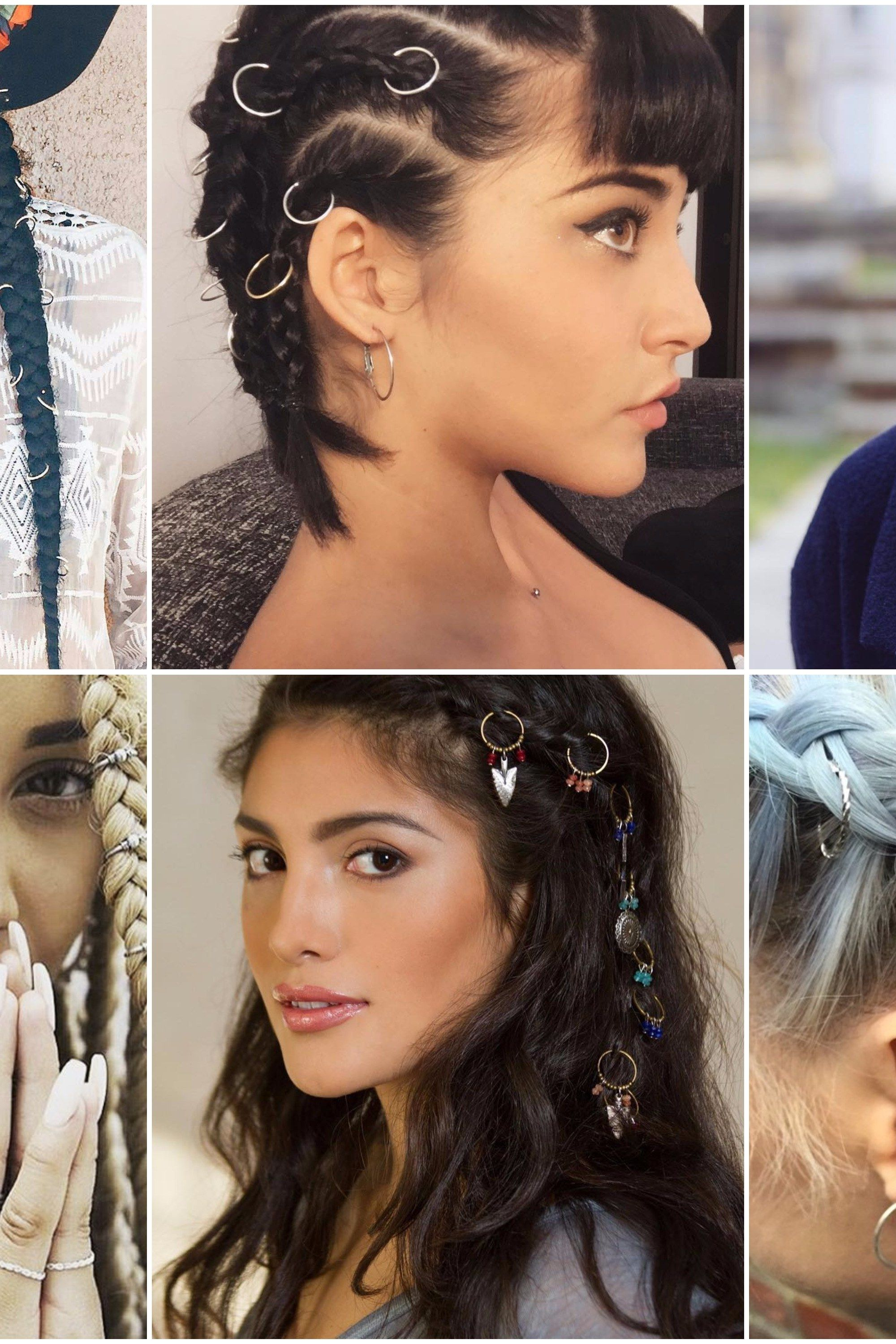 20 of the Coolest Pierced Braid Looks to Try This Summer | Hair rings, Braids, Hair
