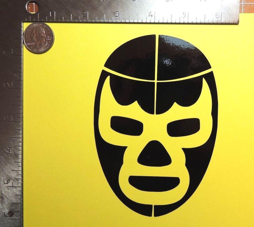 Blue Demon Lucha Libre Mexican Wrestling Mask Die Cut Vinyl Decal - Die cut vinyl decal stickers