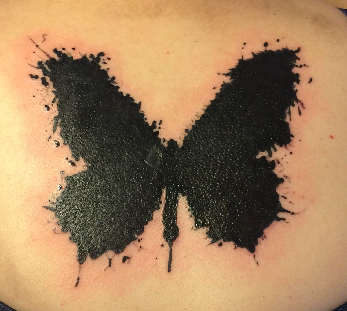 Butterfly tattoo schmetterling maple leaf tattoo leaf
