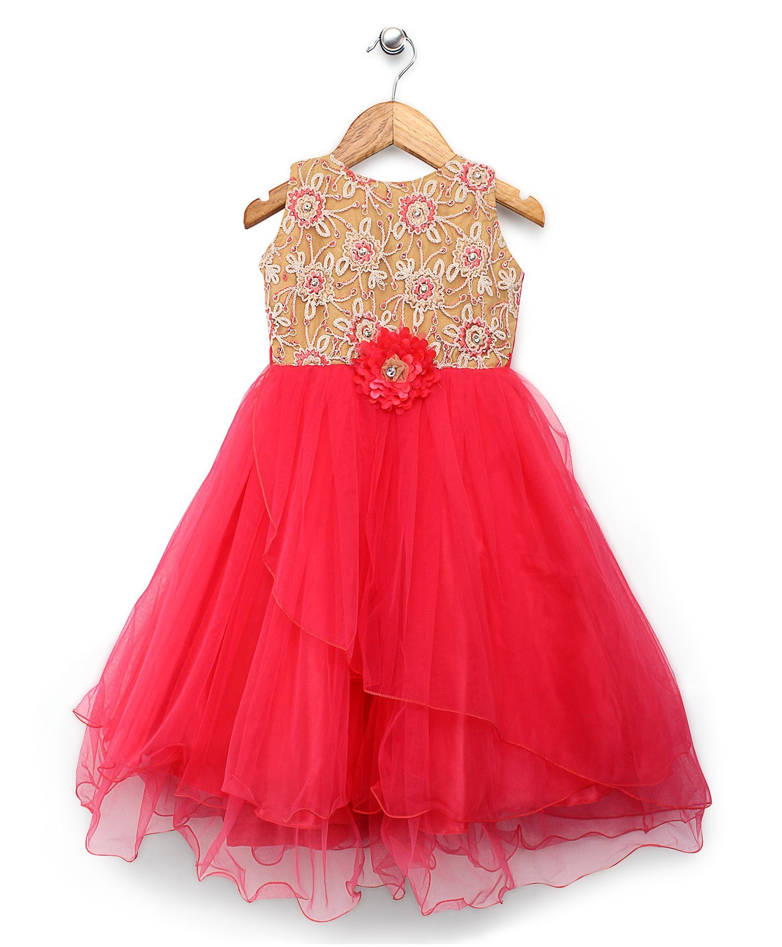 Bluebell Coral Net Party Wear Frocks #Frock #Red #Party | Kids ...