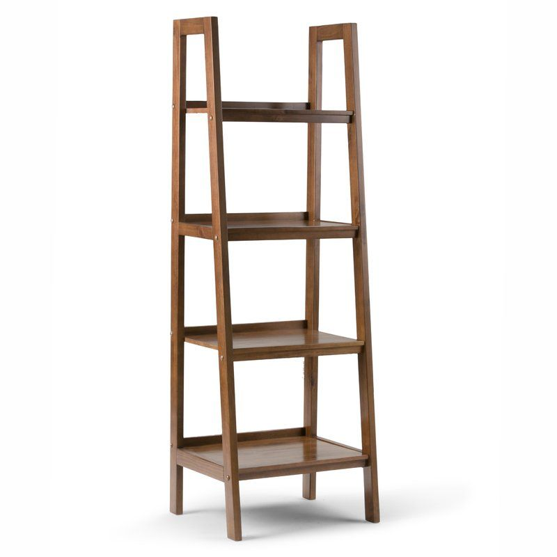 Ine Ladder Bookcase Wood Ladder Shelf Home Office Furniture