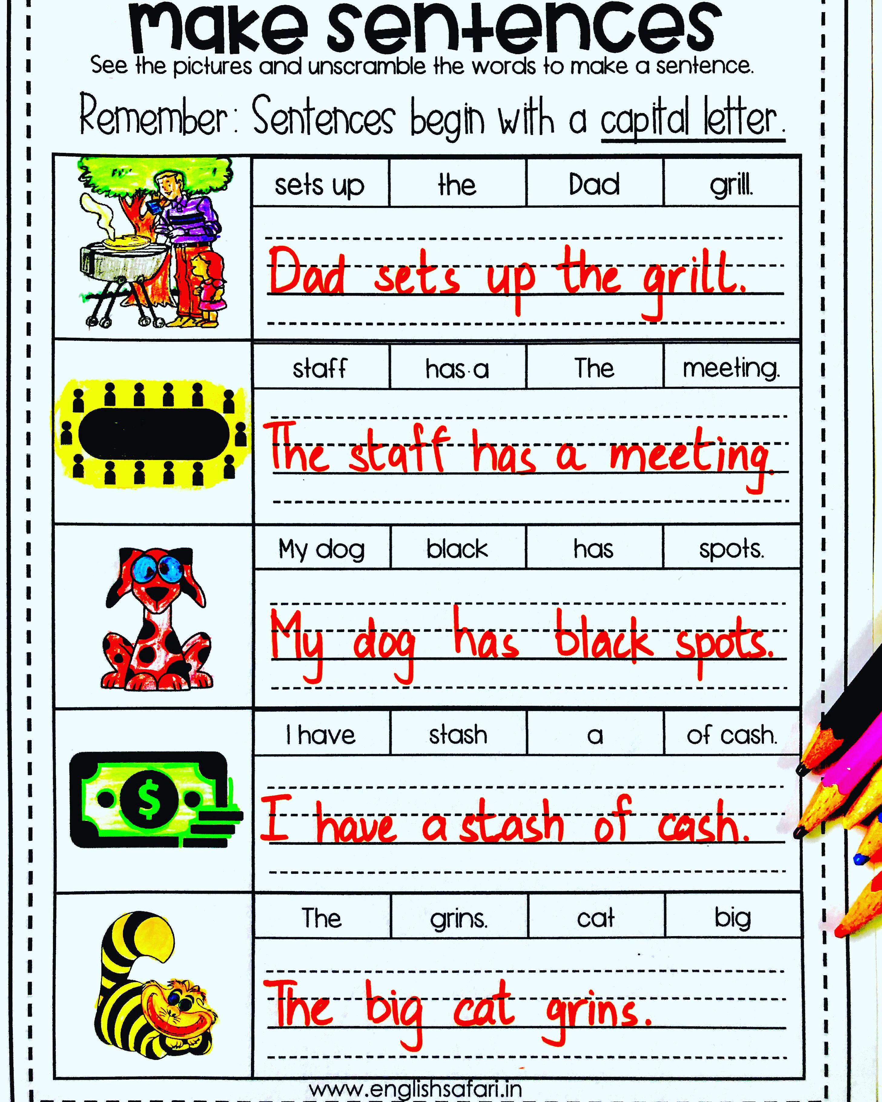 Phonics Sentences Worksheet Free Englishsafari In
