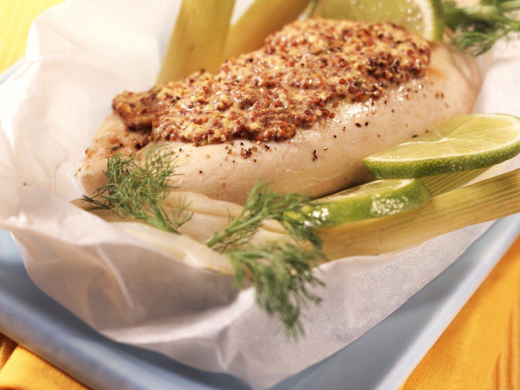 Papillote de poulet à la moutarde (recette de régime ...