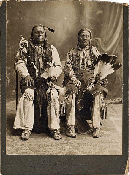 Comanche men - circa 1890