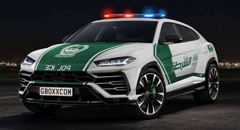 Dubai Police Has Probably Set Its Eyes On The Lamborghini Urus Already Carscoops Police Cars Classic European Cars Police