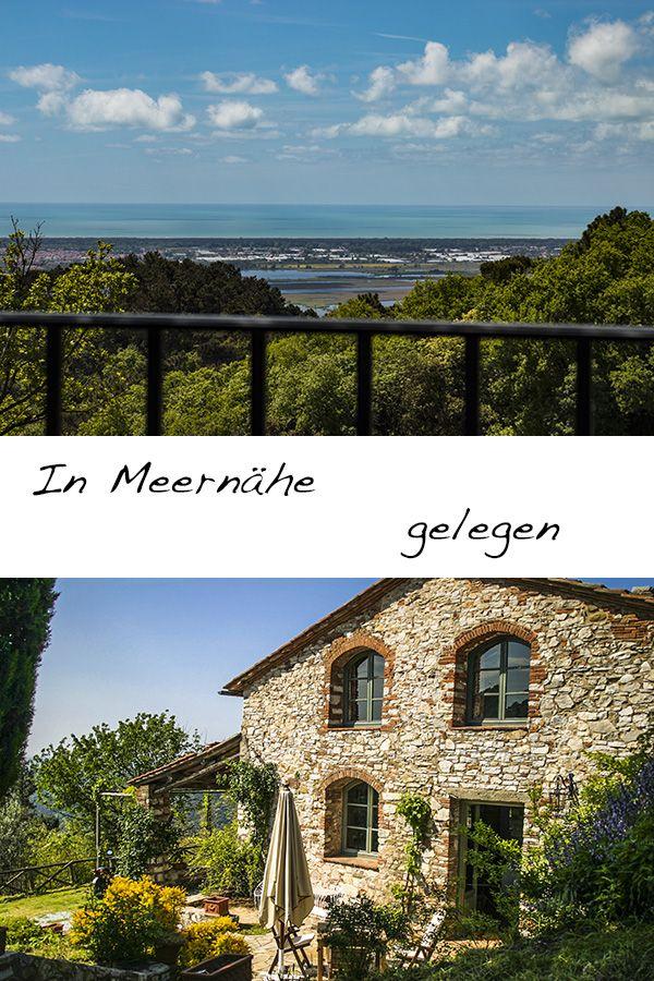 Geniessen Sie Das Weite Panorama In Diesem Elegant Rustikalen Ferienhaus Nahe Dem Meer Bei Lucca Und Pisa Ein Ferienhaus Italien Ferienhaus Ferienhaus Toskana