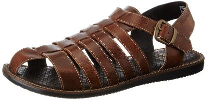 65 off on red tape men's leather sandals at rs 803