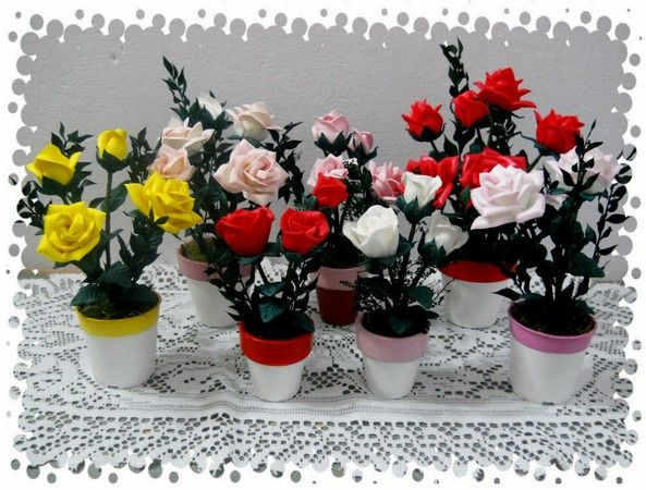 centros de mesa con flores en goma eva matizadas - buscar con