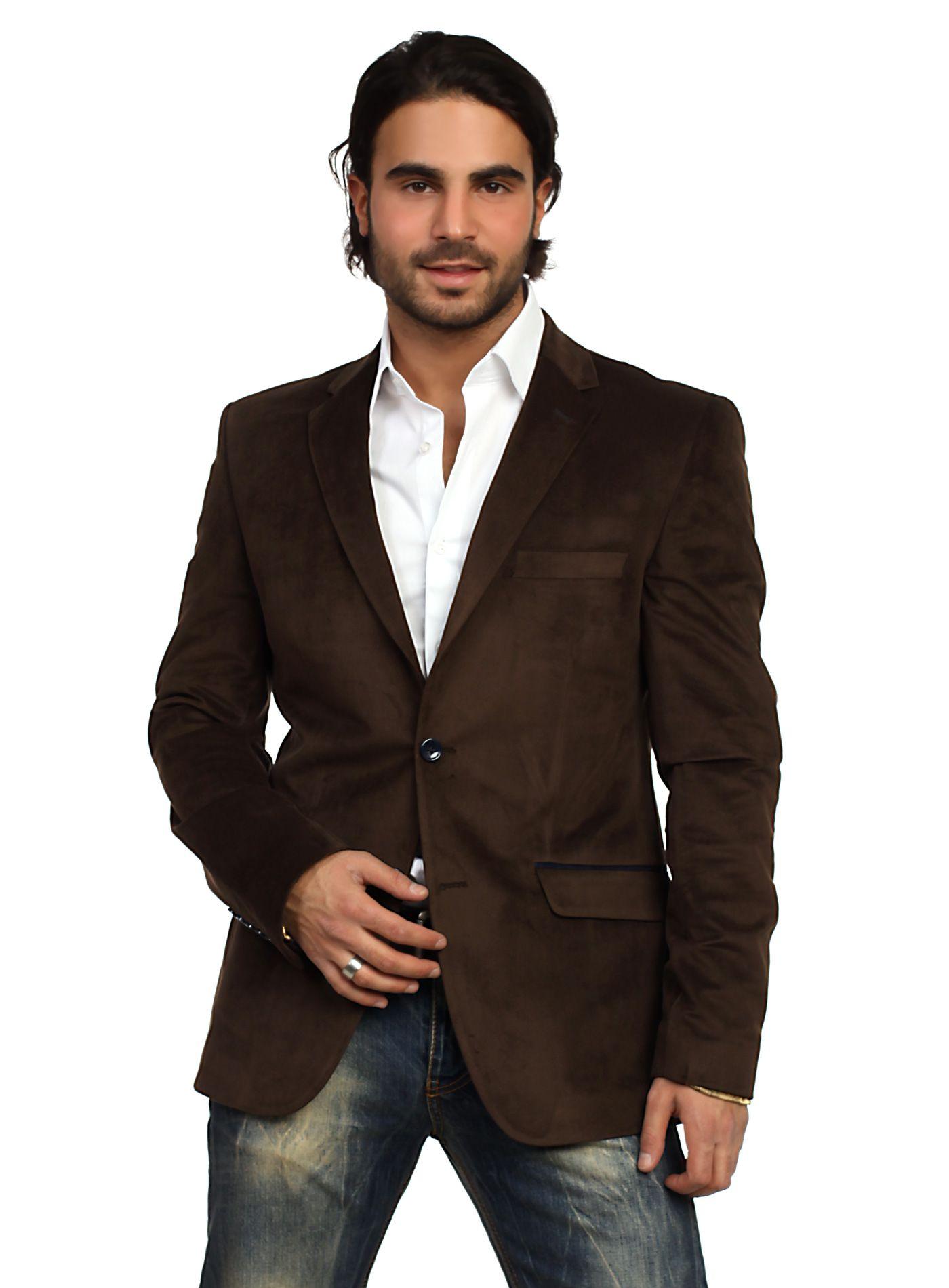 groomsmen in brown sports coat and jeans WAM Blazer