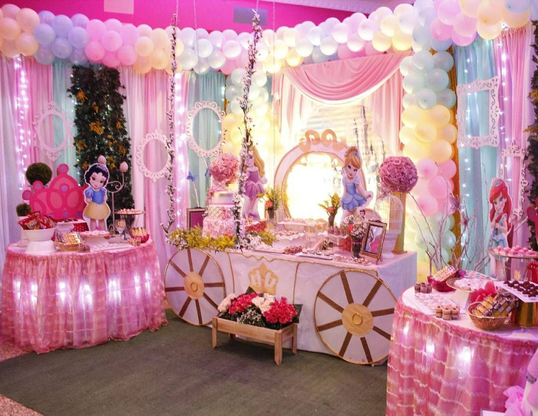 Nuestra hermosa decoraci n de babyprincess realizada - Decoracion fiesta princesas disney ...