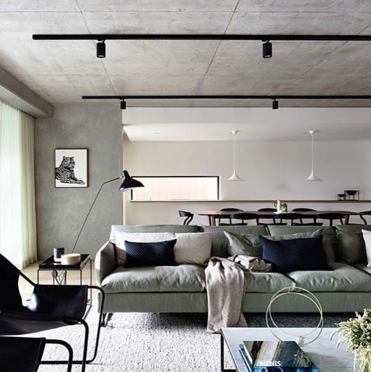 Well-liked More black track lighting on cement ceiling | Lighting | Pinterest  EN97