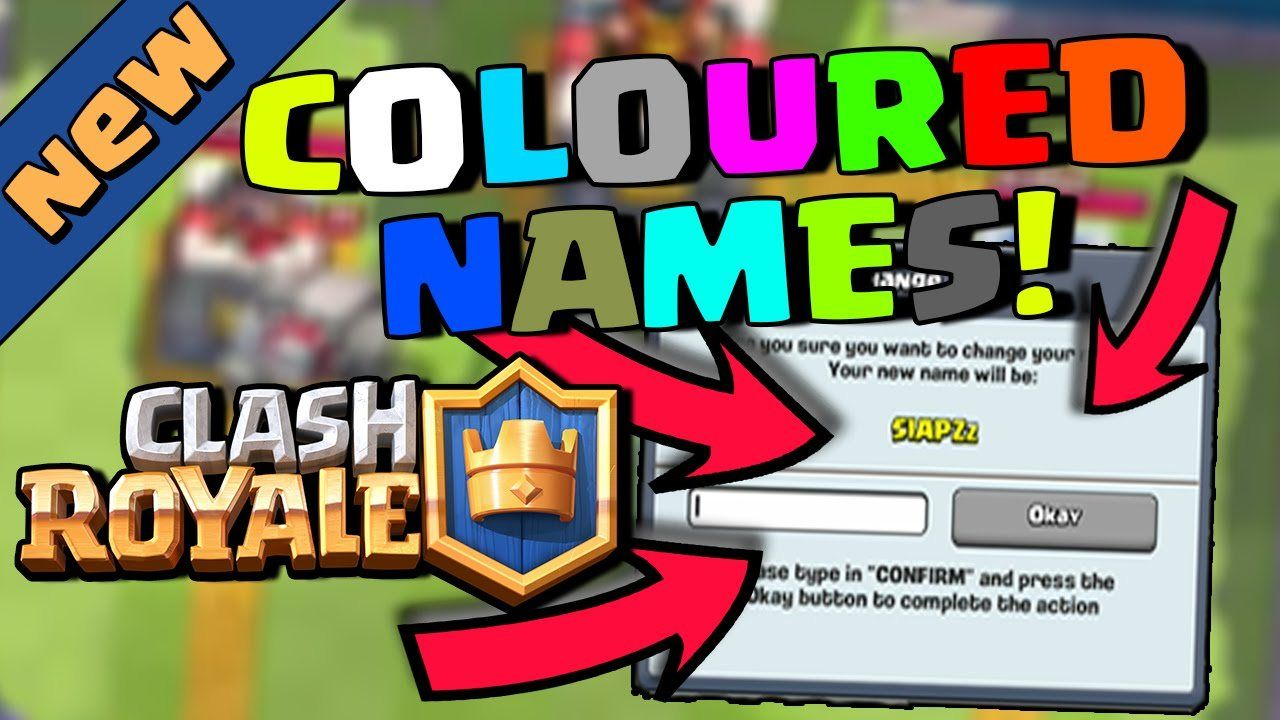 Do You Want A Colored Name In Clash Royale Yeah It Is Fun Having Colored Username It Is Extremely Simple To Change Your Existing Na Clash Royale Names Color