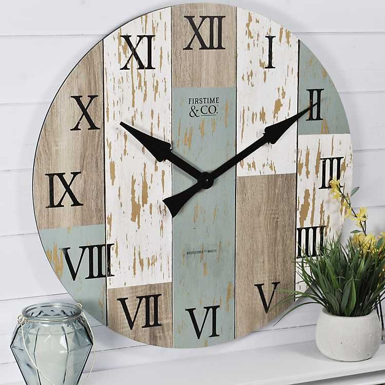 Timberworks Wall Clock Kirklands Shabby Chic Wall Clock Distressed Wall Clock Farmhouse Wall Clocks