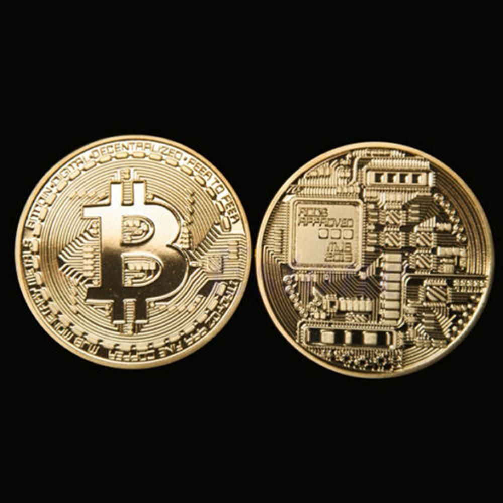 Wedding decorations silver october 2018 Gold Plated Bitcoin Coin Collectible BitCoin Art Collection Gift