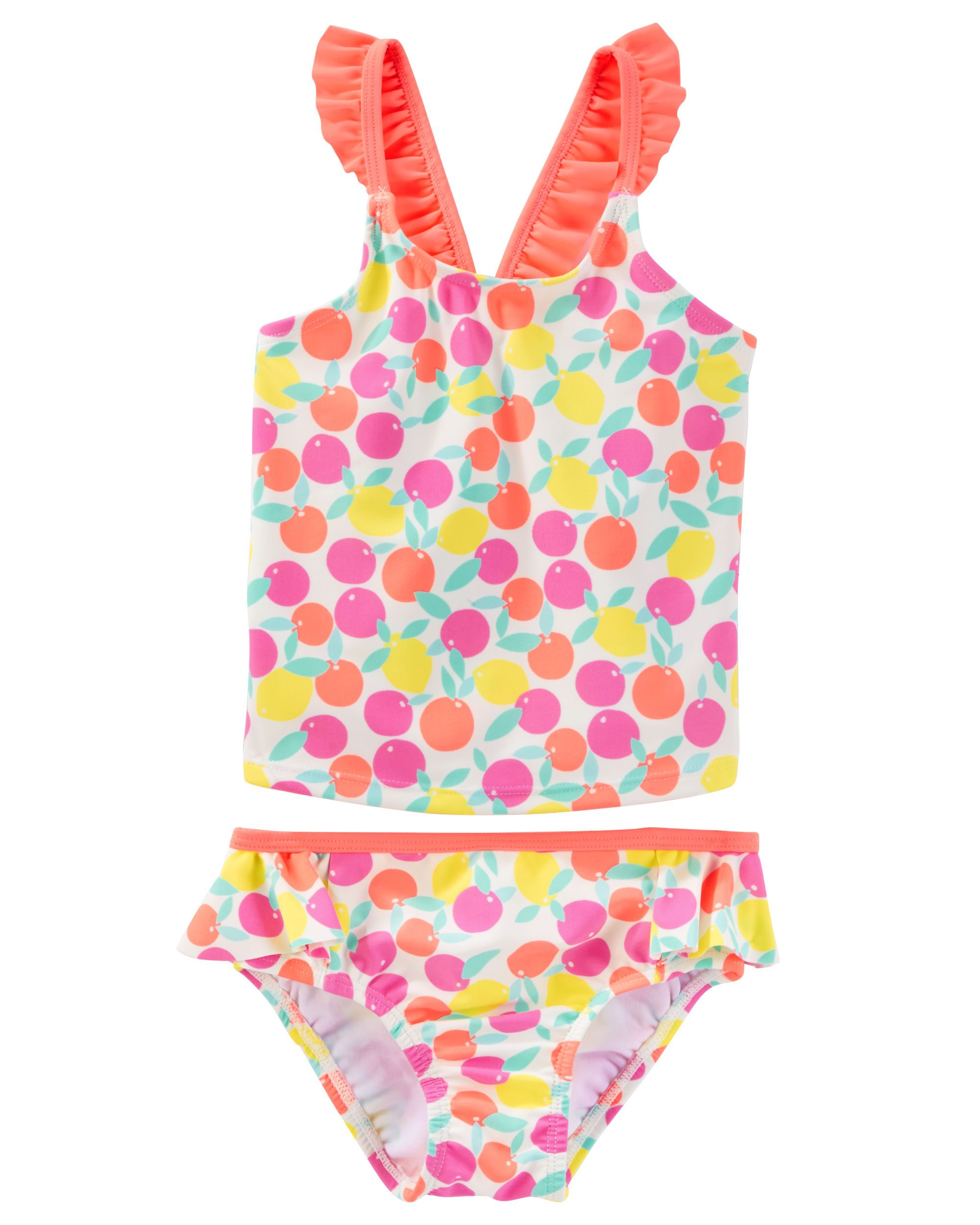 OshKosh BGosh Osh Kosh Bgosh Big Girls Two-Piece Printed Tankini Swimsuit Set