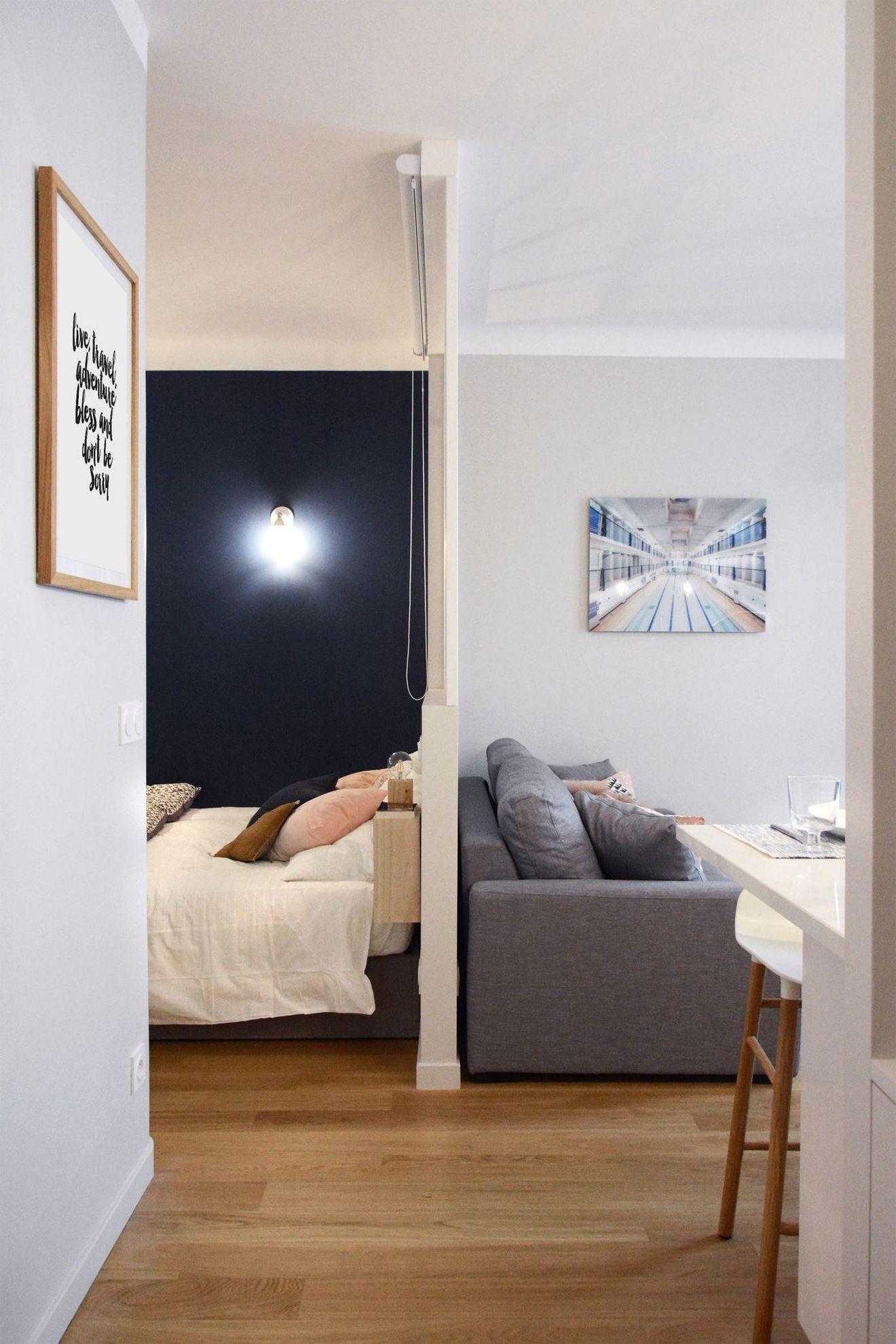 Appartement Paris 6 30 M2 Comme Un Deux Pieces Appartement Paris Amenagement Petit Appartement Idee Amenagement Salon
