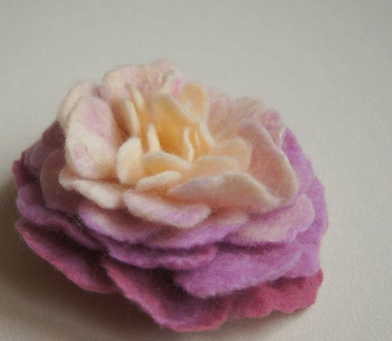 Felted Lilac Peony