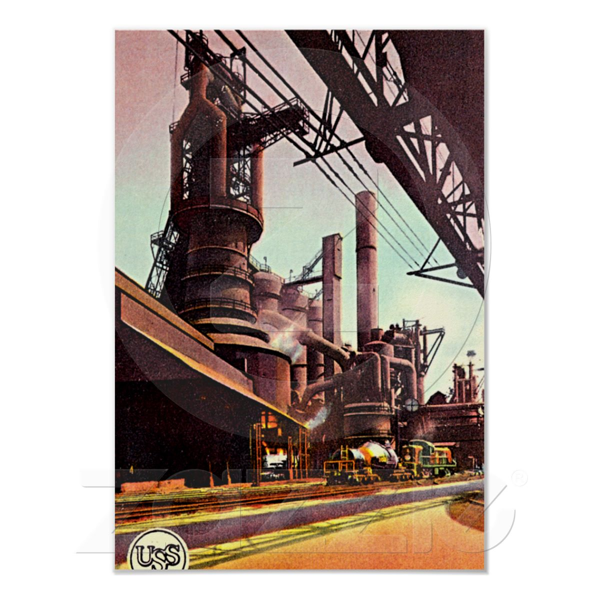 Gary, Indiana Blast Furnace 1930 Poster