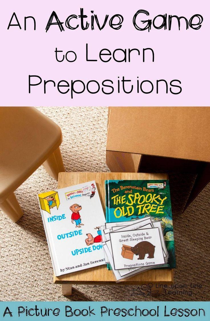 Playing Preschool Gross Motor Skills Preschool Prepositions Game Motor Skills Preschool Teaching Prepositions Prepositions