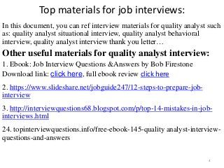 Top 36 quality analyst interview questions and answers pdf ...
