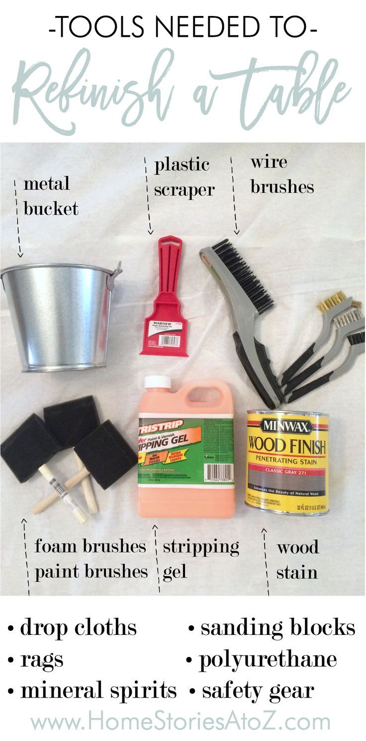 Tools Needed To Refinish A Wood Table