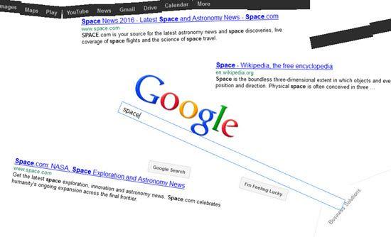 Google Easter Eggs Zero Gravity