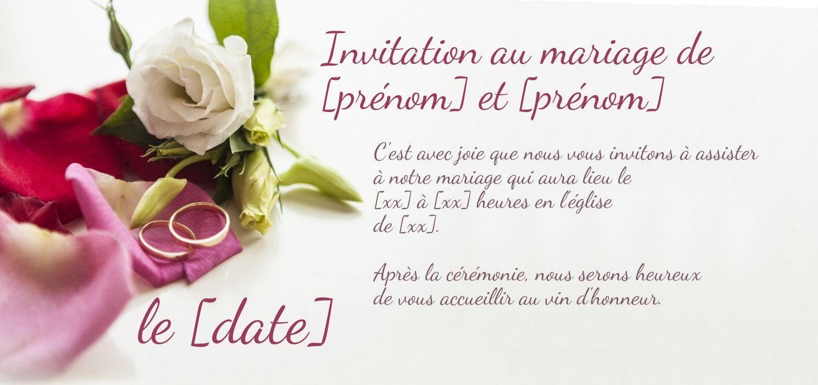 Faire Part De Mariage A Personnaliser Et A Imprimer Sur Carte