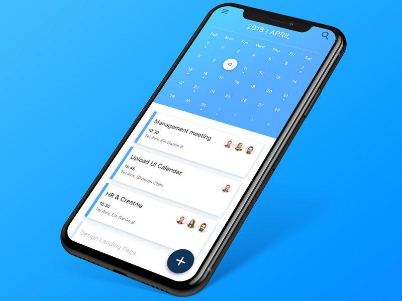 Calendar App Design Concept With Images