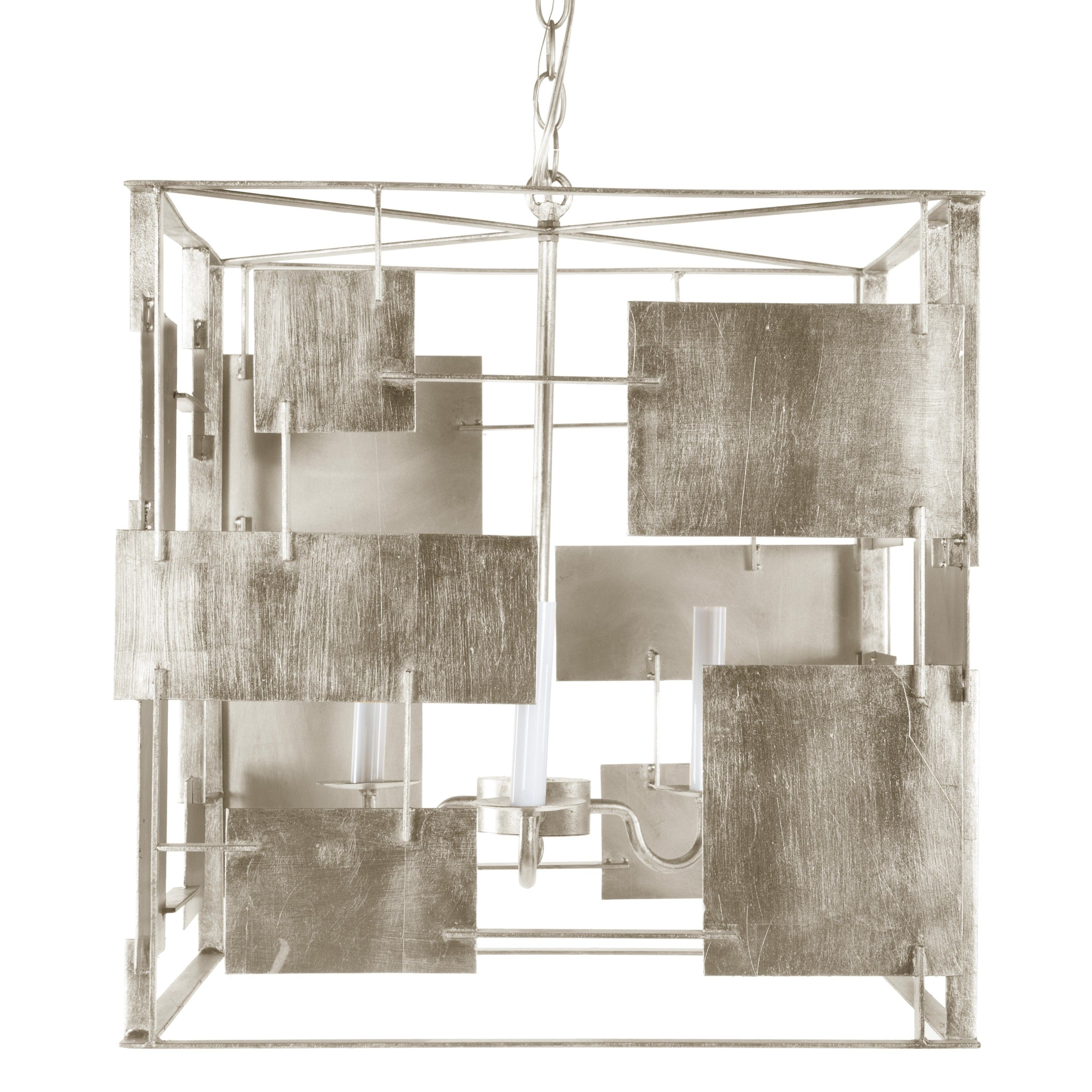 Arlo s champagne silver leaf square chandelier with abstract information worlds away arlo silver square chandelier features a captivating piece for the transitional dining room this light fixture illuminates with arubaitofo Choice Image