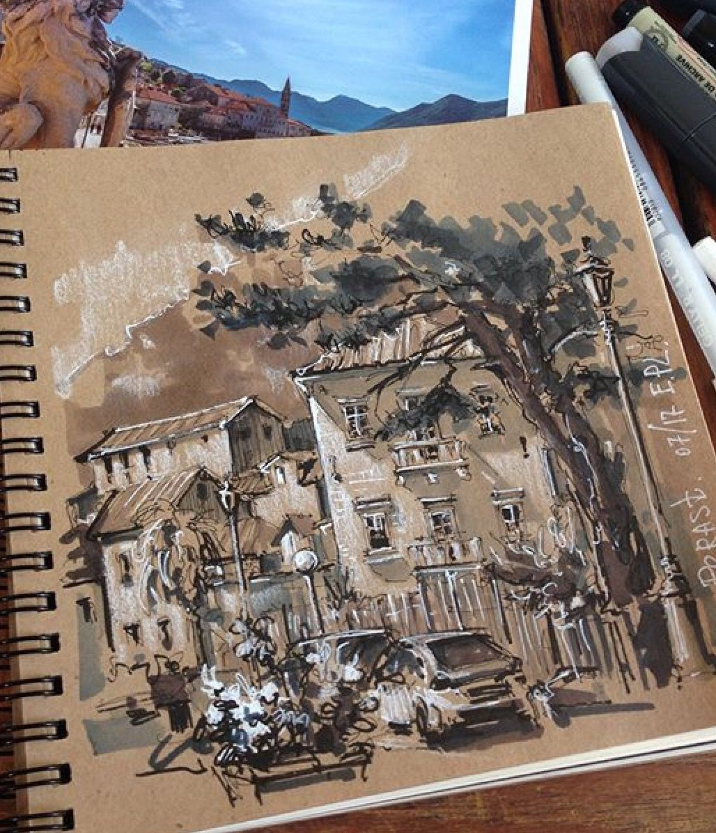 Love The Use Of White For Highlighting On Toned Paper Croquis